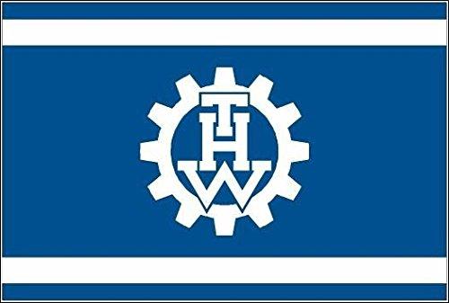 U24 Aufkleber THW Technisches Hilfswerk Flagge Fahne 8 x 5 cm Autoaufkleber Sticker