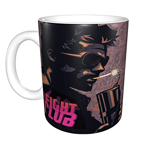 Fight Club Tyler Durden Smoking A Dynamite Home Taza de té de cerámica Taza de café de oficina 10 oz