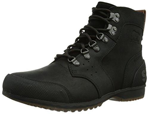 Sorel Men's Ankeny Mid Hiker Hiking Boot, Black, Tobacco, 10 M US