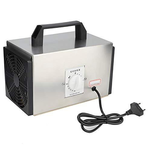 20g/h Interruptor de Tiempo Ozonizador Purificador de Aire Generador de ozono Máquina de desinfección Enchufe de la UE 250V