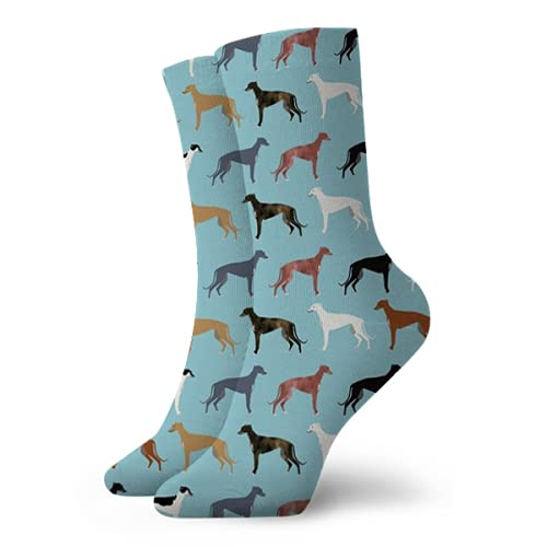 Fodmua Greyhounds Cute Dog BreedClassic Senderismo Caminar Viajar Calcetines