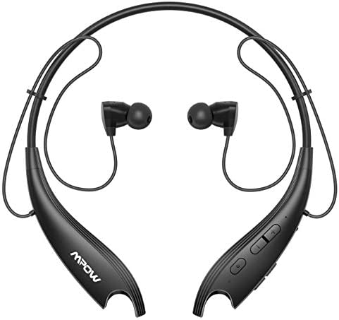 Bluetooth Headphones Mpow Jaws 6 Upgraded Wireless Neckband Headset Retractable Earbuds 24 H product image