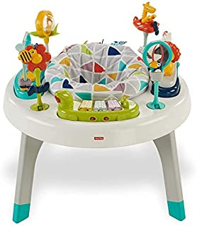 Fisher-Price 2-in-1 Sit-to-Stand Activity Center, Spin'n Play Safari