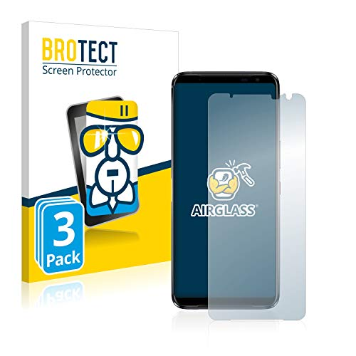 BROTECT Panzerglas Schutzfolie kompatibel mit Asus ROG Phone 3 Strix (3 Stück) - AirGlass, extrem Kratzfest, Anti-Fingerprint, Ultra-transparent