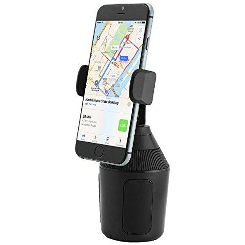 MidGard Universal Autohalterung für KFZ-Getränkehalter, Cup Mount für Smartphones bis zu 8,3cm Breite