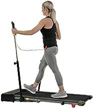 Sunny Health & Fitness Slim Folding Treadmill Trekpad with Arm Exercisers - SF-T7971, Black