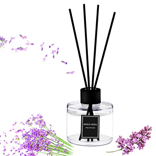 Reed Diffuser Set, Binca Vidou Lavender Reed Oil Diffusers for Bedroom Living Room Office Aromatherapy Oil for Gift Idea & Stress Relief 120 ml/4.09 oz