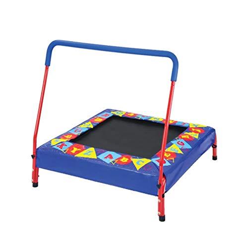 Jiamuxiangsi Kindertrampoline Kinderen Mini Trampoline Thuis Indoor Springen Bed met Handrails en Staal Frame Kleine Springen Bed Volwassen Gewichtsverlies Artifact Trampoline Indoor trampolines