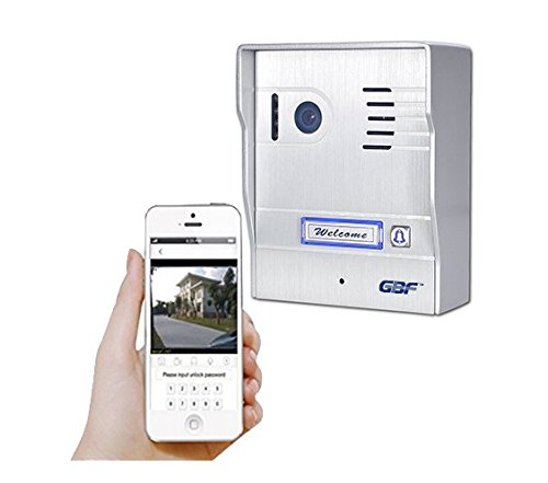 GBF Upgraded WiFi Video Doorbell Intercom System Night Vision Weatherproof- HD 1080P Video, Wide Angle, Onvif, Motion Detection, Local or Cloud Storage,