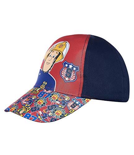 Brandweerman Sam baseballcap cappy paraplu, zonwering voor kinderen, meisjes en jongens, met klittenbandsluiting verstelbaar in blauw/lichtblauw/donkerblauw
