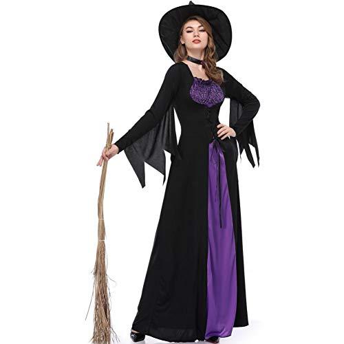 SDGFGW Halloween jurken Halloween Kostuum Cos Cosplay Volwassene Heks Rok