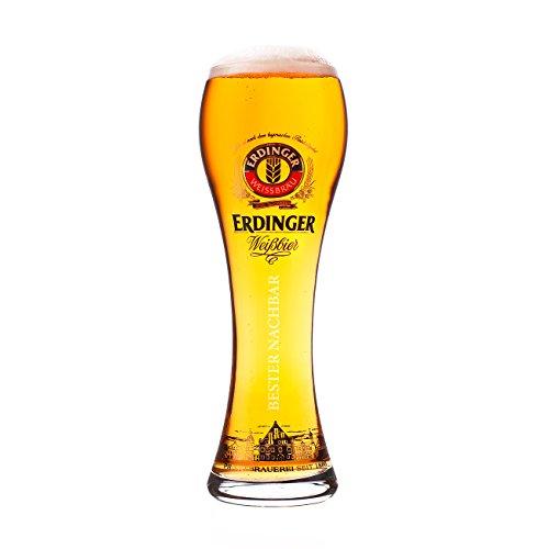 Erdinger Glas mit Gravur lizenziert Original Weißbierglas 0,5l - Bester Nachbar - Exclusiv Edition