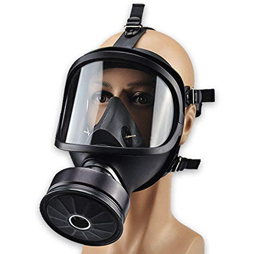 Mask Full Face Head Ventilative Biochemical Gas Mask Widely Used In Organic Gas,paint Spary, Chemical,woodworking,dust Protectio(Includes 40mm gas mask filter)