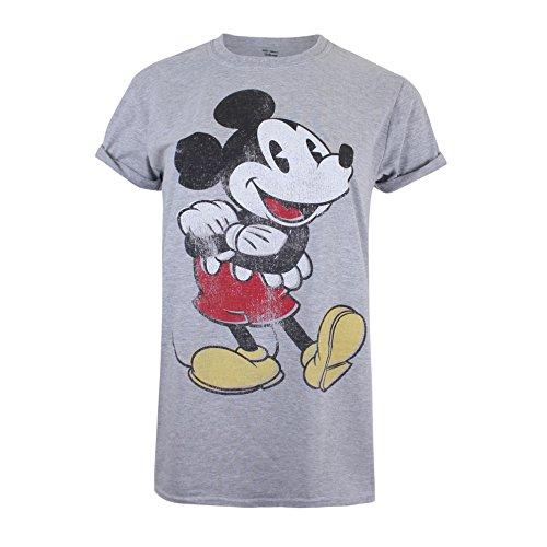 Disney Mickey Mouse Vintage Camiseta, Gris (Sport Grey SPO), XL para Mujer