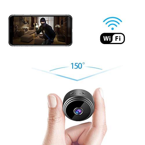 Cámara espía Mini cámara Wi-Fi Oculta, 1080P inalámbrico pequeño Interior cámaras de Seguridad para el hogar Nanny CAM con detección de Movimiento y visión Nocturna ( Color : No Memory Card )
