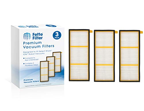 Fette Filter - Pre-Motor Filter Compatible for Shark ION Robot. Compare to # RVFFK700 (Pack of 3) Central Dining Features Filters Kitchen Vacuum