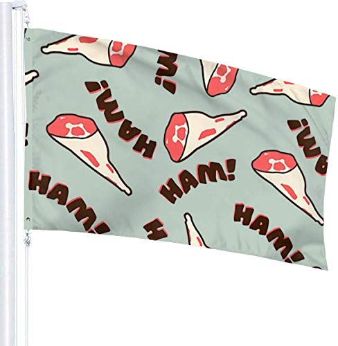 N/A USA Guard Vlag Banner Home Flags Ham Fade Resistant Outdoor Yard voor Festival Patio Verjaardag Decoratie 3x5 Ft