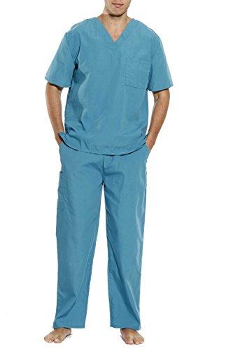 Tropi 33300M-Jade-XL Unisex Scrub Sets Medical Scrubs Mens Scrubs