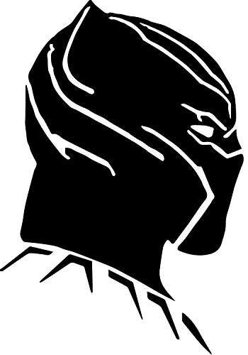 Black Panther Side View from Marvel Comics Stickers Symbol 5.5' DECORTIVE DIE Cut Decal for Cars Tablets LAPTOPS Skateboard - Black Color
