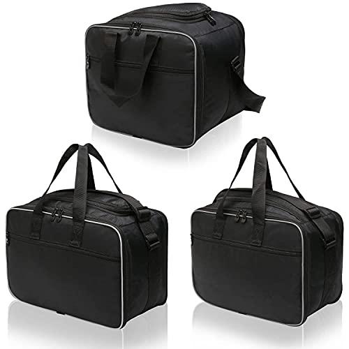 Bolsas interiores para moto Getmoreparts para Honda Africa Twin, de plástico, maleta lateral y baúl, 3 piezas, bolsillo interior para moto, bolsillos interiores para maleta de moto