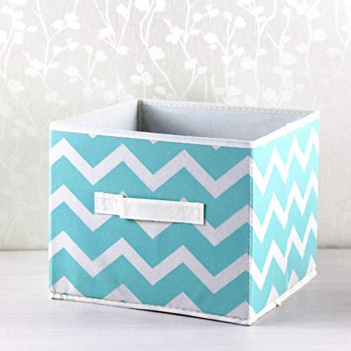 Cubo pieghevole Scatola portaoggetti in tessuto Organizzatore Portaoggetti pieghevole in tessuto non tessuto Contenitori portaoggetti per giocattoli per bambini Motivi geometrici