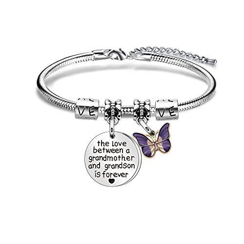 ACAROMAY Grandma Bangles Granddaughter Nana Love Wrist Bracelets...