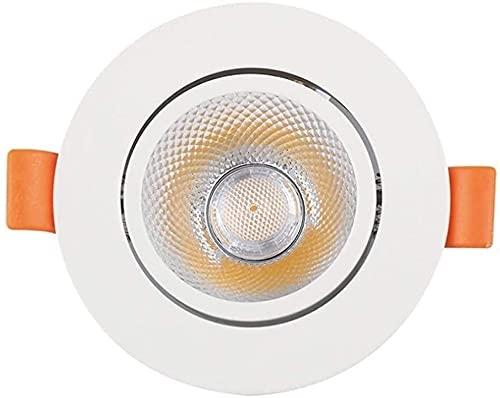 5w Agujero 75mm Cob Luz De Techo Instalación Empotrada Foco De Apertura De Techo Inclinado Foco Empotrado En El Techo Luminaria Empotrada En El Baño Ángulo De Haz De Fondo Foco Empotrado En El Techo F