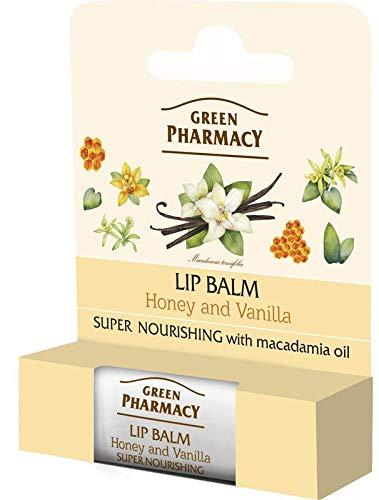 Elfa Pharm Green Pharmacy Baume pour les lèvres Miel et Vanille ntensiv nourrissante, SPF 10 5 ml