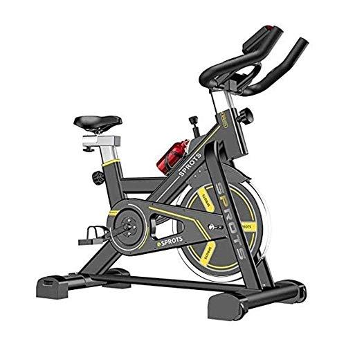 AJH Bicicleta estática para el hogar, Equipo de Ejercicio para Interiores, Bicicleta estática, Bicicleta estática, Amarillo, Equipo de Fitness para el hogar