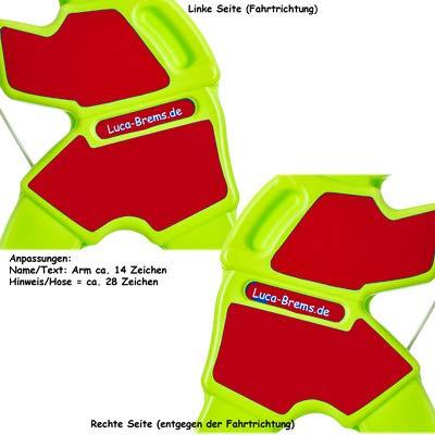 UvV Lisa Brems, Achtung Vorsicht spielende Kinder Aufsteller als Warnschild Warnfigur für Spielstraßen, Kitas, Spielplätze (Mädchen Wunschtext)