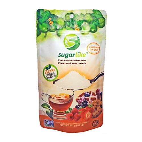 SugarLike Monk Fruit Sweetener (227g) - Zero Calorie & Zero Carbs, Keto & Low-Carb, Diabetic Friendly, 1:1 Sugar Substitute, No Bad Aftertaste, All Natural Ingredients, Non-GMO