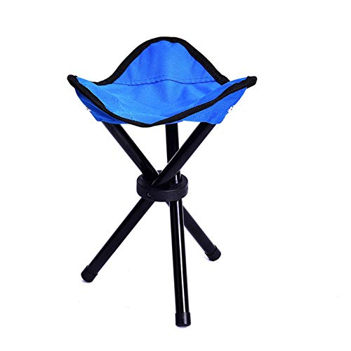 T-ara Suave y Confortable Campamento Plegable Ligero portátil Camping Senderismo Pliegue Taburete Trípode Silla Festival de Pesca Picnic Barbacoa Playa Playa Silla Pop-Up diseño de Moda
