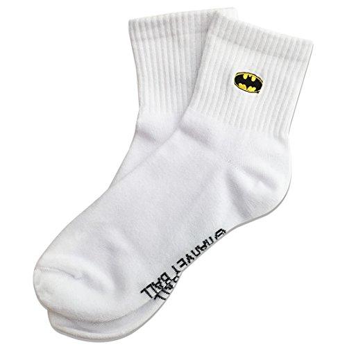 スーパーマン ワンポイント刺繍ソックス バットマン ロゴ 約22�p?24�p WBBT544J