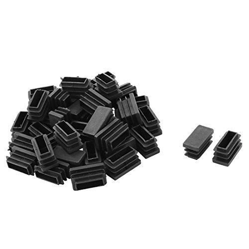 Sourcingmap Table en Plastique Jambe Pieds Chaise Tube Tuyau Insérer Embout Noir 25mm x 12mm 40 PCS