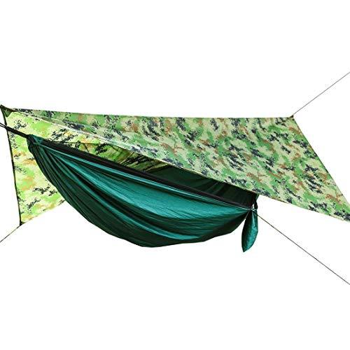 Camping automatische Geschwindigkeit offene Hängematte mit Moskitonetz im Freien wasserdichte Markise Keine Geschwindigkeit offen Moskitonetz Hängematte blau + Blaue Markise