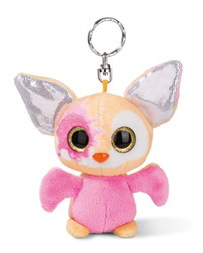 NICI 45283 NICIdoos Baby-Fledermaus 9cm Schlüsselanhänger, Plüschtier mit Schlüsselring, bunt