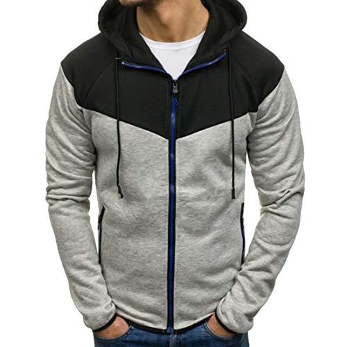 Men's Jacket Long Sleeve Leisure Full Zip Micro Fleece Hoodie Comfy Autumn Classic...
