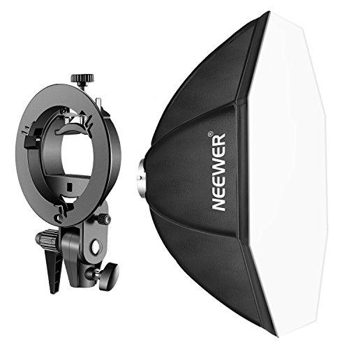Neewer 80x80 Zentimeter Achteckige Speedlite Softbox mit S-Typ Halterung, Bienenstock Halterung für Nikon, Canon, Sony, Pentax, Olympus, Panasonic und andere Strobe Blitze