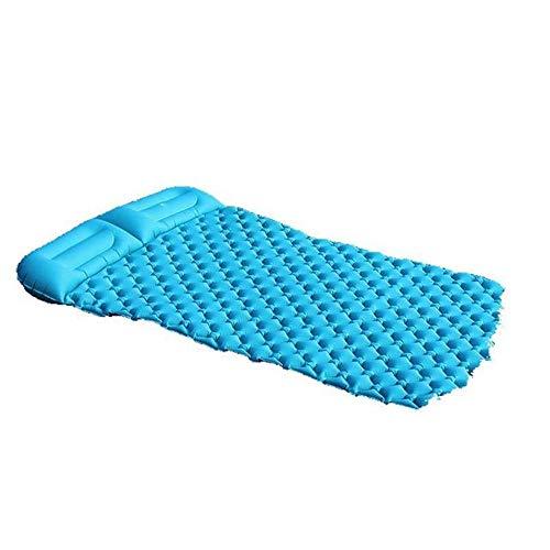 Colchón de Aire El dormir inflable Mat Por camping Colchón inflable Mat compacto ya prueba de humedad for ir de excursión con mochila Hamaca Carpa para Acampar ( Color : Azul , Size : 195X136CM )
