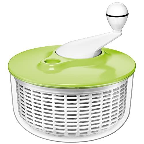 Silit Salatschleuder 25 cm, Kunststoff, Kunststoffsieb, Kurbelmechanismus, spülmaschinengeeignet, grün