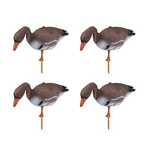 CUTICATE 4 x PVC Lockvogel - Schwimmend Gans Vogelscheuche für Jagd