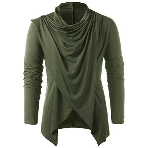 Mens Medieval Pirate Tank Tops Renaissance Viking Sleeveless T Shirt Scottish Cosplay Costume Top Army Green