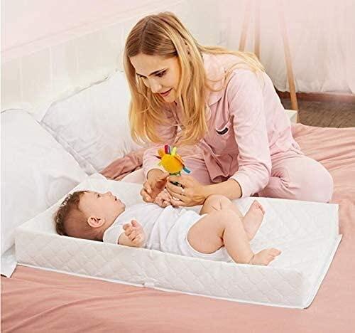 Cambiador de bebé, cambiador de pañales de verano para bebé, portátil, impermeable (32 x 20 x 3.9 pulgadas)
