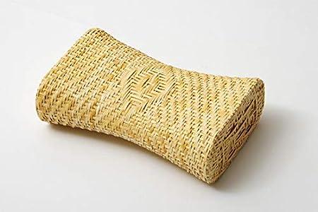 IKEHIKO Almohada tradicional japonesa hecha de hierba natural de calamea transpirable, perfecta para noches de verano 30 x 19 cm, importación japonesa 2505809