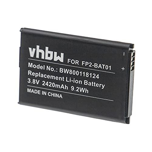 vhbw Li-Ion batería 2420mAh (3.8V) para móvil Smartphone teléfono Fairphone 2