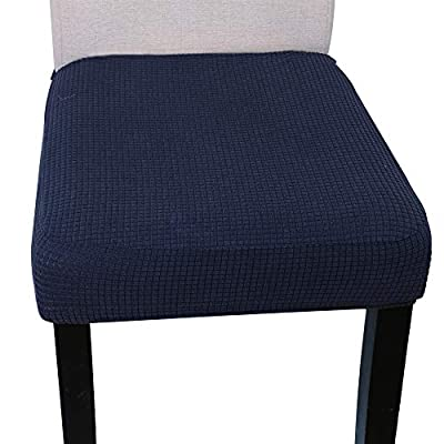 Knit Spandex Fabric Stretch Dining Room Chair Slipcovers Set of 4