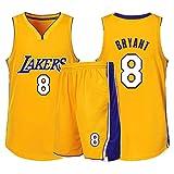 CHYSJ Amarillo # 8 Kobe Jersey, Black Mamba Lakers Basketball Jersey, Camisa de Chaleco sin Mangas Unisex Transpirable XL