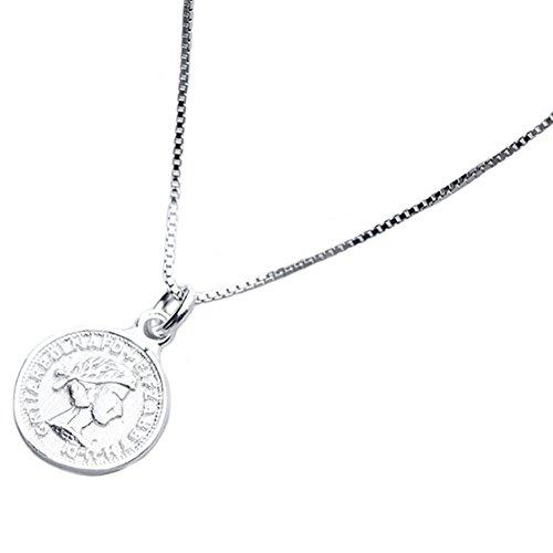 Helen de Lete Royal Queen - Collar con colgante de plata de ley 925