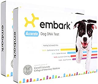 Embark | Dog DNA Test | Breed & Health Kit | Breed Identification & Canine Genetic Health Screening | Pack of 2
