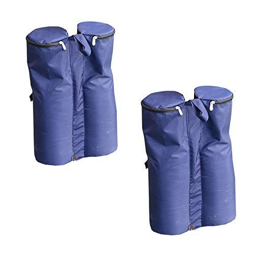 Angel Living® 4er Set Pavillon Gewichte Gartenpavillon Standfuß Blau,Aus Polyester 26x13x46cm